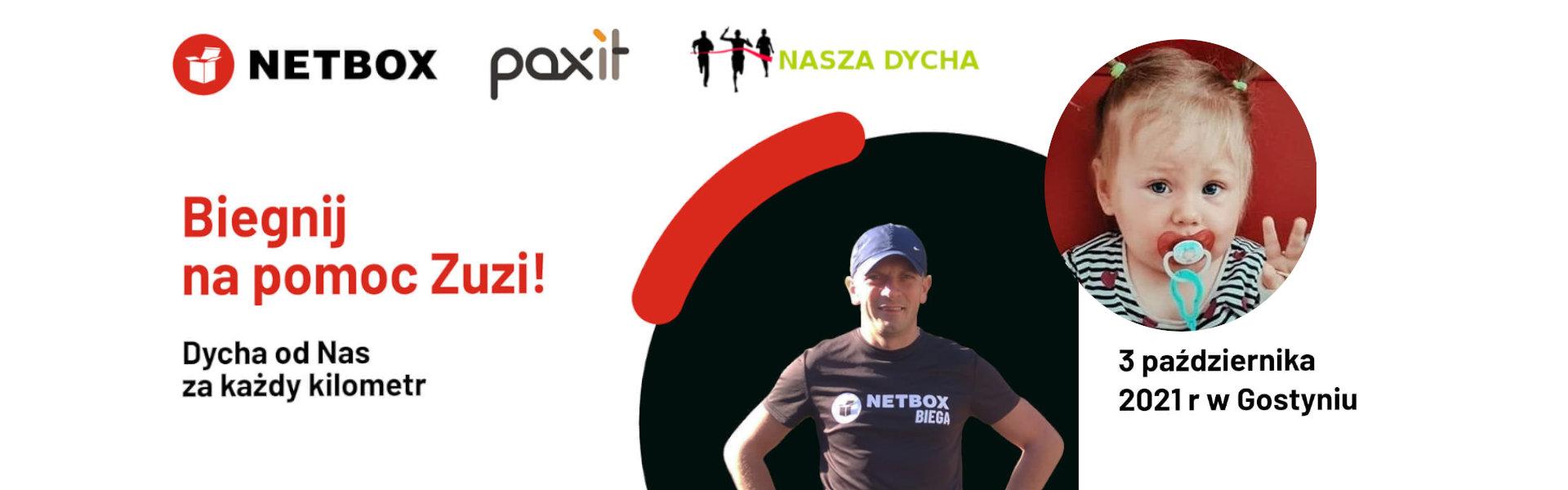 <p>Każdy z nas może pomóc.Dycha za każdy kilometr. Biegnij na pomoc Zuzi!🏃♀️🏃Przed nami kolejna akcja, podczas której będziemy mogli pomóc Zuzi ze Smogorzewa.Co trzeba zrobić? Wystarczy wziąć udział w biegu NASZA DYCHA. Tym razem firmaNetboxprzekaże dychę za każdy przebiegnięty kilometr!Start biegu 3 października, o 14:00 w Gostyniu. Zapisy tylko do […]</p>